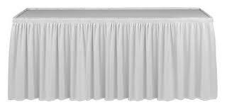Where to find WHITE TABLE SKIRT 8 in Soldotna
